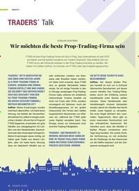 Titelbild der Ausgabe 6/2020 von OTAKAR SUFFNER: Wir möchten die beste Prop-Trading-Firma sein. Zeitschriften als Abo oder epaper bei United Kiosk online kaufen.