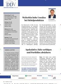 Titelbild der Ausgabe 7/2020 von Deutscher Derivate Verband. Zeitschriften als Abo oder epaper bei United Kiosk online kaufen.