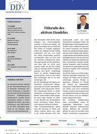 Titelbild der Ausgabe 1/2021 von Eldorado des aktiven Handelns. Zeitschriften als Abo oder epaper bei United Kiosk online kaufen.