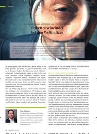 Titelbild der Ausgabe 3/2021 von Etikettenschwindel bei den Weltindizes. Zeitschriften als Abo oder epaper bei United Kiosk online kaufen.