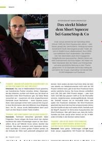 Titelbild der Ausgabe 3/2021 von Das steckt hinter dem Short Squeeze bei GameStop & Co. Zeitschriften als Abo oder epaper bei United Kiosk online kaufen.