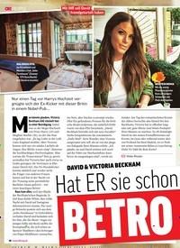 Titelbild der Ausgabe 23/2018 von DAVID & VICTORIA BECKHAM: Hat ER sie schon wieder: BETRO GEN?. Zeitschriften als Abo oder epaper bei United Kiosk online kaufen.