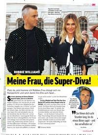 Titelbild der Ausgabe 37/2018 von ROBBIE WILLIAMS: Meine Frau, die Super-Diva!. Zeitschriften als Abo oder epaper bei United Kiosk online kaufen.