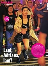 Titelbild der Ausgabe 43/2018 von DIE UNS BEWEGEN: JOB der Woche: ADRIANA LIMA: Lauf, Adriana, lauf!. Zeitschriften als Abo oder epaper bei United Kiosk online kaufen.