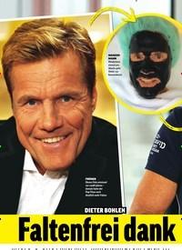 Titelbild der Ausgabe 52/2018 von DIETER BOHLEN: Faltenfrei dank Beauty-Maske?. Zeitschriften als Abo oder epaper bei United Kiosk online kaufen.