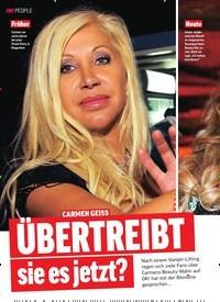 Titelbild der Ausgabe 4/2019 von CARMEN GEISS: Übertreibt sie es jetzt?. Zeitschriften als Abo oder epaper bei United Kiosk online kaufen.