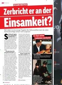 Titelbild der Ausgabe 8/2019 von KEANU REEVES: Zerbricht er an der Einsamkeit?. Zeitschriften als Abo oder epaper bei United Kiosk online kaufen.
