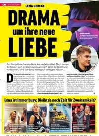 Titelbild der Ausgabe 17/2019 von LENA GERCKE: DRAMA um ihre neue LIEBE. Zeitschriften als Abo oder epaper bei United Kiosk online kaufen.