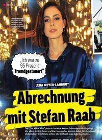 Titelbild der Ausgabe 17/2019 von LENA MEYER-LANDRUT: Abrechnung mit Stefan Raab. Zeitschriften als Abo oder epaper bei United Kiosk online kaufen.