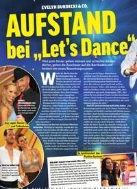 """Titelbild der Ausgabe 19/2019 von EVELYN BURDECKI & CO. AUFSTAND bei """"Let's Dance"""". Zeitschriften als Abo oder epaper bei United Kiosk online kaufen."""