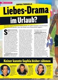 Titelbild der Ausgabe 25/2019 von SOPHIA THOMALLA: Liebes-Drama im Urlaub?. Zeitschriften als Abo oder epaper bei United Kiosk online kaufen.