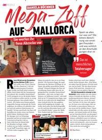 Titelbild der Ausgabe 25/2019 von DANIELA BÜCHNER: Mega-Zoff AUF MALLORCA. Zeitschriften als Abo oder epaper bei United Kiosk online kaufen.
