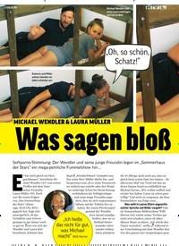 Titelbild der Ausgabe 33/2019 von MICHAEL WENDLER & LAURA MÜLLER: Was sagen bloß ihre Eltern dazu?. Zeitschriften als Abo oder epaper bei United Kiosk online kaufen.