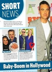 Titelbild der Ausgabe 10/2020 von SHORT NEWS: Baby-Boom in Hollywood. Zeitschriften als Abo oder epaper bei United Kiosk online kaufen.