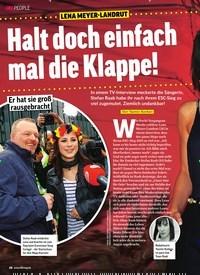 Titelbild der Ausgabe 11/2020 von LENA MEYER-LANDRUT: Halt doch einfach mal die Klappe!. Zeitschriften als Abo oder epaper bei United Kiosk online kaufen.