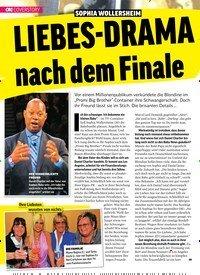 Titelbild der Ausgabe 36/2018 von COVERSTORY: SOPHIA WOLLERSHEIM:LIEBES-DRAMA nach dem Finale. Zeitschriften als Abo oder epaper bei United Kiosk online kaufen.