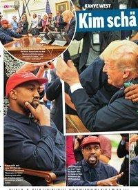 Titelbild der Ausgabe 43/2018 von KANYE WEST: Kim schä mt sich für ihn!. Zeitschriften als Abo oder epaper bei United Kiosk online kaufen.