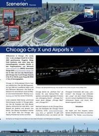 Titelbild der Ausgabe 5/2019 von Szenerien Payware: Gigantisches Gesamtwerk!: Chicago City X und Airports X. Zeitschriften als Abo oder epaper bei United Kiosk online kaufen.