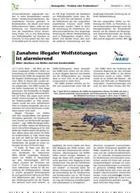 Titelbild der Ausgabe 4/2018 von Zunahme illegaler Wolfstötungen ist alarmierend. Zeitschriften als Abo oder epaper bei United Kiosk online kaufen.