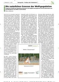 Titelbild der Ausgabe 4/2018 von Die natürlichen Grenzen der Wolfspopulation. Zeitschriften als Abo oder epaper bei United Kiosk online kaufen.