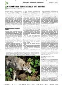 Titelbild der Ausgabe 4/2018 von Rechtlicher Schutzstatus des Wolfes. Zeitschriften als Abo oder epaper bei United Kiosk online kaufen.