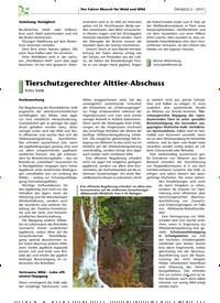 Titelbild der Ausgabe 2/2019 von Tierschutzgerechter Alttier-Abschuss. Zeitschriften als Abo oder epaper bei United Kiosk online kaufen.