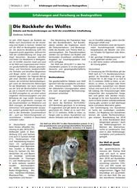 Titelbild der Ausgabe 2/2019 von Die Rückkehr des Wolfes. Zeitschriften als Abo oder epaper bei United Kiosk online kaufen.