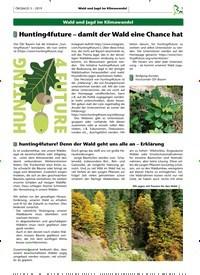 Titelbild der Ausgabe 3/2019 von Hunting4future – damit der Wald eine Chance hat. Zeitschriften als Abo oder epaper bei United Kiosk online kaufen.