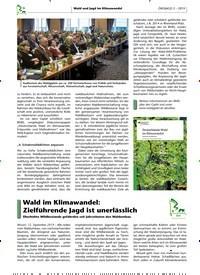 Titelbild der Ausgabe 3/2019 von Wald im Klimawandel: Zielführende Jagd ist unerlässlich. Zeitschriften als Abo oder epaper bei United Kiosk online kaufen.