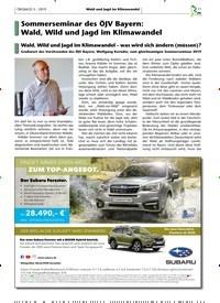 Titelbild der Ausgabe 3/2019 von Sommerseminar des ÖJV Bayern: Wald, Wild und Jagd im Klimawandel. Zeitschriften als Abo oder epaper bei United Kiosk online kaufen.