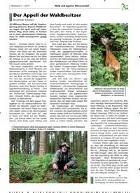 Titelbild der Ausgabe 3/2019 von Der Appell der Waldbesitzer. Zeitschriften als Abo oder epaper bei United Kiosk online kaufen.
