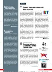Titelbild der Ausgabe 9/2020 von IRT:Institut für Rundfunktechnik wird aufgelöst. Zeitschriften als Abo oder epaper bei United Kiosk online kaufen.