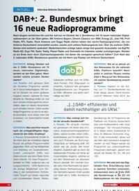 Titelbild der Ausgabe 9/2020 von Interview Antenne Deutschland: DAB+: 2. Bundesmux bringt 16 neue Radioprogramme. Zeitschriften als Abo oder epaper bei United Kiosk online kaufen.