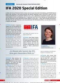Titelbild der Ausgabe 9/2020 von Interview gfu Consumer & Home Electronics GmbH: IFA 2020 Special Edition. Zeitschriften als Abo oder epaper bei United Kiosk online kaufen.