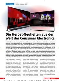 Titelbild der Ausgabe 10/2020 von Technik-Neuheiten 2020: Die Herbst-Neuheiten aus der Welt der Consumer Electronics. Zeitschriften als Abo oder epaper bei United Kiosk online kaufen.