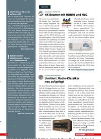 Titelbild der Ausgabe 1/2021 von NEWS: ViewSonic PX701-4K: 4K-Beamer mit HDR10 und HLG. Zeitschriften als Abo oder epaper bei United Kiosk online kaufen.