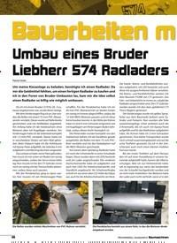 Titelbild der Ausgabe 8/2018 von Bauarbeiten mit Hindernissen: Umbau eines Bruder Liebherr 574 Radladers. Zeitschriften als Abo oder epaper bei United Kiosk online kaufen.