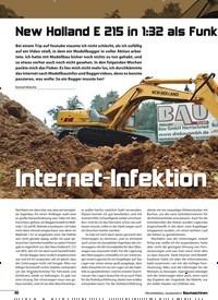 Titelbild der Ausgabe 8/2018 von New Holland E 215 in 1:32 als Funk tionsmodell: Internet-Infektion. Zeitschriften als Abo oder epaper bei United Kiosk online kaufen.
