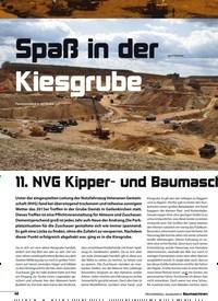 Titelbild der Ausgabe 8/2018 von Spaß in der Kiesgrube: 11. NVG Kipper- und BaumaschGeräthinentreffen in Geilenkirchen. Zeitschriften als Abo oder epaper bei United Kiosk online kaufen.