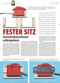 Titelbild der Ausgabe 20/2020 von FESTER SITZ Servoeinbaurahmen selbstgebaut. Zeitschriften als Abo oder epaper bei United Kiosk online kaufen.