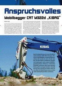 """Titelbild der Ausgabe 8/2018 von Anspruchsvolles Gerät: Mobilbagger CAT M322d """"KIBAG"""". Zeitschriften als Abo oder epaper bei United Kiosk online kaufen."""