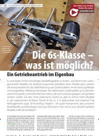 Titelbild der Ausgabe 18/2019 von Die 6s-Klasse – was ist möglich?: Ein Getriebeantrieb im Eigenbau. Zeitschriften als Abo oder epaper bei United Kiosk online kaufen.