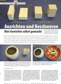 Titelbild der Ausgabe 20/2020 von Ausrichten und Beschweren Blei-Gewichte selbst gemacht. Zeitschriften als Abo oder epaper bei United Kiosk online kaufen.