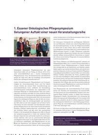 Titelbild der Ausgabe 2/2019 von 1. Essener Onkologisches Pflegesymposium Gelungener Auftakt einer neuen Veranstaltungsreihe. Zeitschriften als Abo oder epaper bei United Kiosk online kaufen.