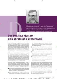 Titelbild der Ausgabe 2/2019 von Das Multiple Myelom – eine chronische Erkrankung. Zeitschriften als Abo oder epaper bei United Kiosk online kaufen.
