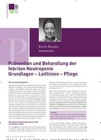 Titelbild der Ausgabe 3/2019 von Prävention und Behandlung der febrilen Neutropenie Grundlagen – Leitlinien – Pflege. Zeitschriften als Abo oder epaper bei United Kiosk online kaufen.