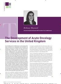 Titelbild der Ausgabe 3/2019 von The Development of Acute Oncology Services in the United Kingdom. Zeitschriften als Abo oder epaper bei United Kiosk online kaufen.