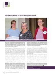 Titelbild der Ausgabe 4/2019 von Pia-Bauer-Preis 2019 für Brigitte Gabriel. Zeitschriften als Abo oder epaper bei United Kiosk online kaufen.