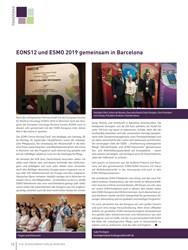 Titelbild der Ausgabe 4/2019 von EONS12 und ESMO 2019 gemeinsam in Barcelona. Zeitschriften als Abo oder epaper bei United Kiosk online kaufen.