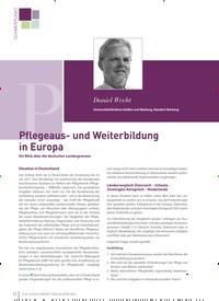Titelbild der Ausgabe 1/2020 von Pflegeaus- und Weiterbildung in Europa. Zeitschriften als Abo oder epaper bei United Kiosk online kaufen.